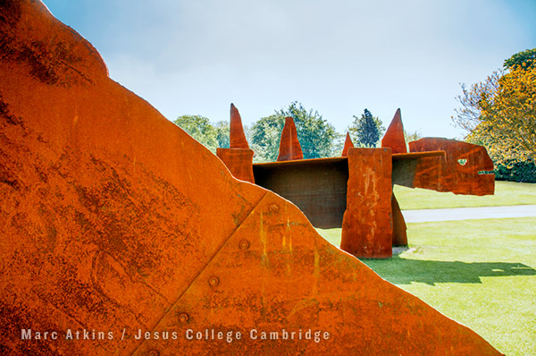 Chapman brothers sculptures Jesus College Cambridge