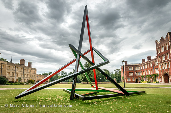 Eva Rothschild Sculpture exhibition Jesus College